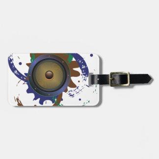 Grunge Audio Speaker 3 Luggage Tag