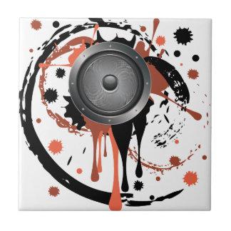 Grunge Audio Speaker Ceramic Tile