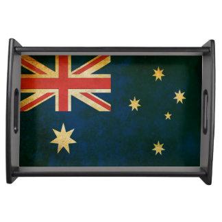 Grunge Australian Flag Premium Serving Tray