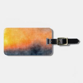 Grunge background luggage tag