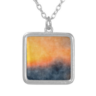 Grunge background silver plated necklace