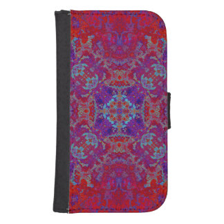 Grunge backward vintage texture samsung s4 wallet case