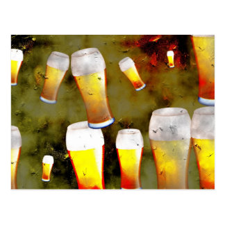 Grunge Beer Post Cards
