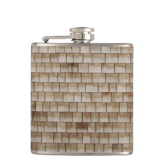 grunge beige wood wall texture flask