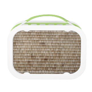 grunge beige wood wall texture lunch box