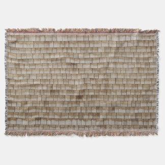 grunge beige wood wall texture throw blanket