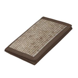 grunge beige wood wall texture tri-fold wallets