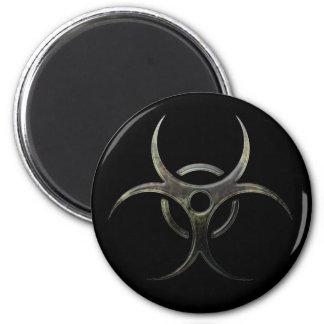 Grunge Biohazard Symbol Magnet