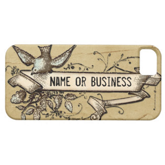 Grunge bird scroll messy iphone 5 case