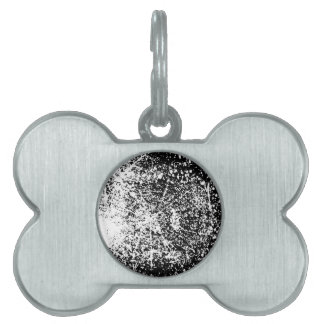 Grunge Black and White Background Pet ID Tag