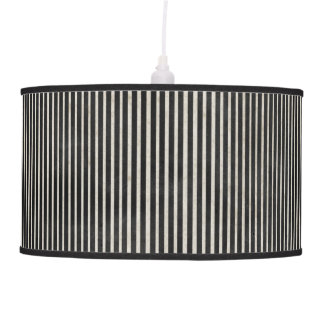 Grunge Black and White Striped Pendant Lamp