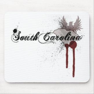 Grunge Blood Splatter South Carolina Mousepad