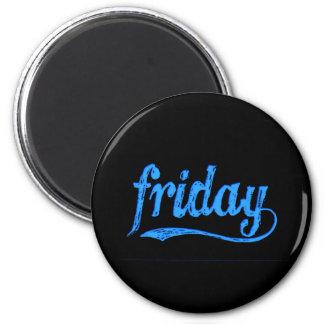 GRUNGE BLUE BLACK FRIDAY WEEKDAY MAGNET