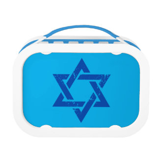 Grunge Blue Star of David Lunch Box