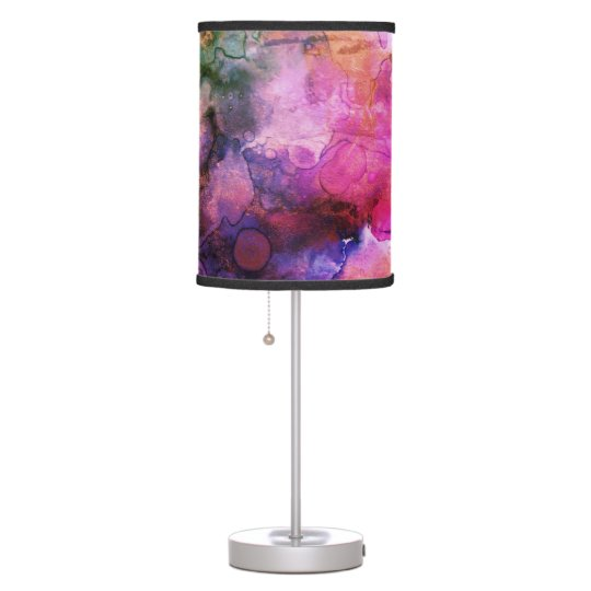 Grunge Bright Watercolor Ink Background Table Lamp