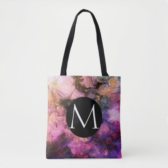 Grunge Bright Watercolor Ink Background Tote Bag