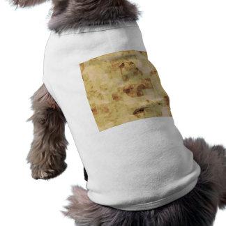 grunge brown antique parchment textured dog t shirt