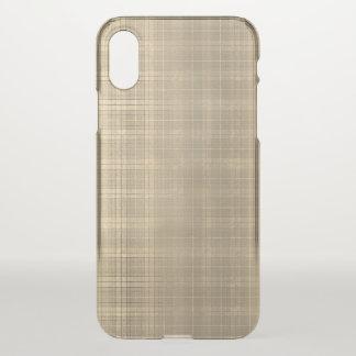 Grunge Brown Tartan Plaid 90s style iPhone X Case