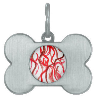 Grunge Brush Strokes Pet ID Tag