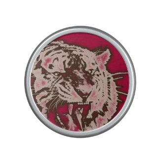 Grunge Burgundy Abstract Tiger Speaker