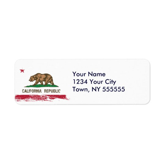 Grunge California State Flag