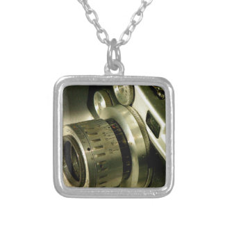 Grunge camera silver plated necklace