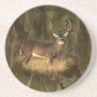 Grunge Camoflage Deer-Coaster Coaster