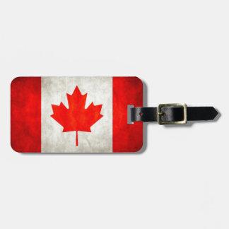 Grunge Canada Flag Bag Tag