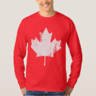 Grunge Canada Flag Maple - White Distorted T-Shirt