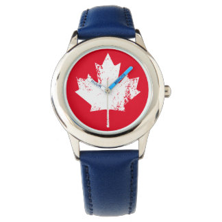 Grunge Canada Flag Maple - White Distorted Watch
