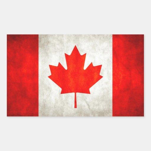 Grunge Canada Flag Sticker