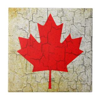 Grunge Canada flag Tile