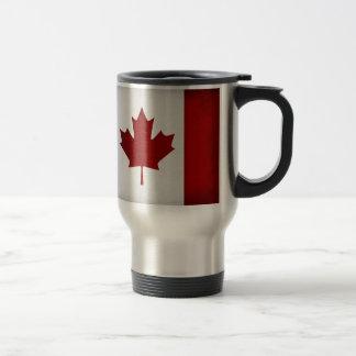 Grunge Canadian Flag 15 Oz Stainless Steel Travel Mug