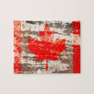 Grunge Canadian flag Jigsaw Puzzle