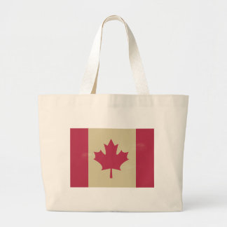grunge canadian flag large tote bag