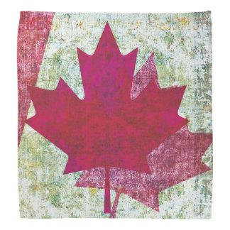 Grunge Canadian flag maple leaf Kerchief