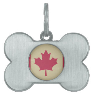 grunge canadian flag pet ID tags
