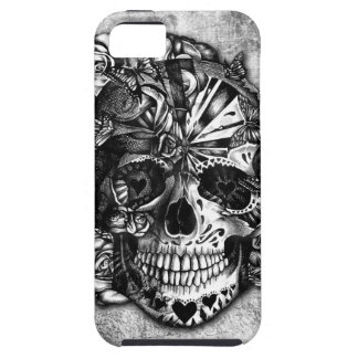 Grunge Candy sugar skull in black and white. iPhone 5 Covers