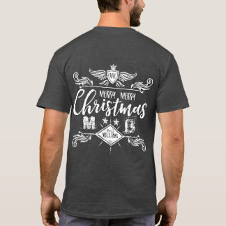 Grunge Chalkboard Merry Christmas Retro Typography T-Shirt