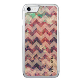 grunge chevron pattern by name carved iPhone 7 case