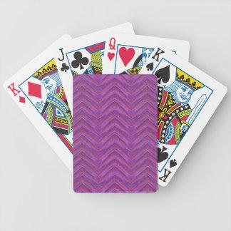 Grunge Chevron Style Poker Deck