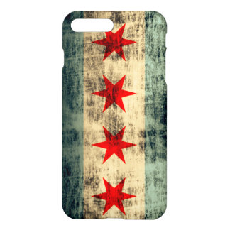 Grunge Chicago Flag iPhone 7 Plus Case