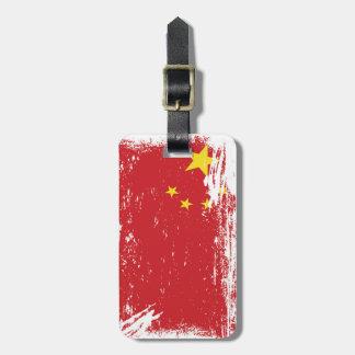Grunge China Flag Luggage Tags