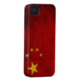 Grunge Chinese Flag iPhone 4 Cases