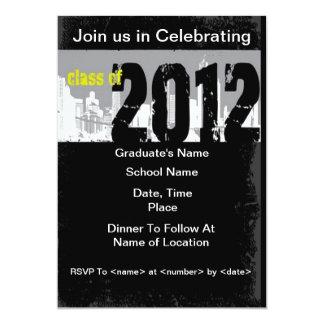 Grunge Class of 2012 Graduation Invitations