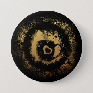 Grunge Coffee 3 Inch Round Button