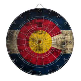 Grunge Colorado Flag Dartboard