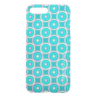 grunge colorful circles pattern with text iPhone 8 plus/7 plus case