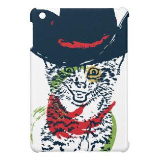 Grunge Cowboy Cat Portrait 2 iPad Mini Cases