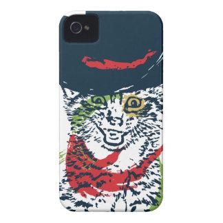Grunge Cowboy Cat Portrait 2 iPhone 4 Case-Mate Case
